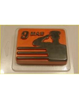 9 Мая Солдат пластиковая форма для мыла (1 шт) БП 250