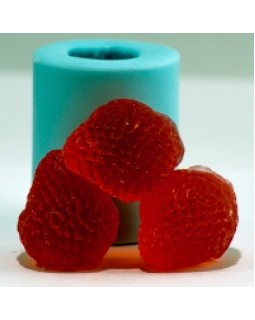 Клубничка 3D, форма для мыла силиконовая, 1 шт.