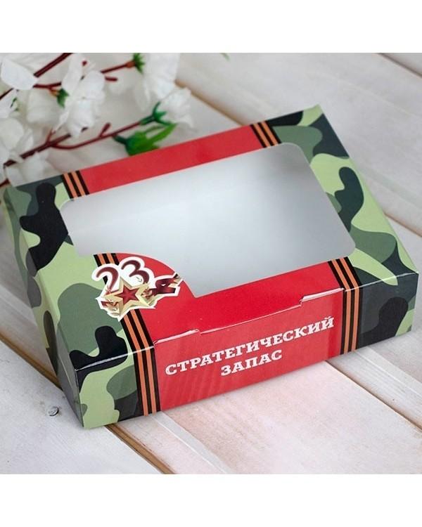 """Коробка для мыла №47 """"23 февраля"""" размер 15х11х4см"""