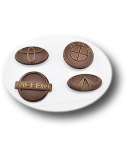 Авто эмблемы 1, форма для шоколада пластиковая, (1 шт)