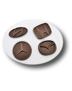Авто эмблемы 2, форма для шоколада пластиковая, (1 шт)