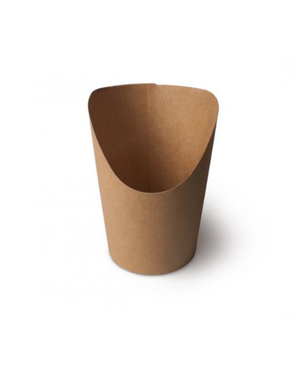Упаковка для картофиля фри, снеков, поп-клрна, большая, крафт, BK094Kr (1 шт.)