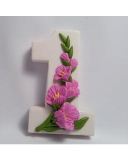 1 сентября. Гладиолусы, форма для мыла силиконовая (1 шт)