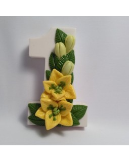 1 сентября. Лилии, форма для мыла силиконовая (1 шт)