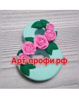 8 марта розы, форма для мыла силиконовая (1 шт)