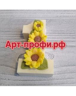 1 сентября с подсолнухами, форма для мыла силиконовая (1 шт)
