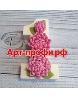 1 сентября с хризантемами, форма для мыла силиконовая (1 шт)