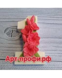 1 сентября с гладиолусами, форма для мыла силиконовая (1 шт)