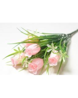 БАЛШЕМ Букет бутонов роз 5 голов с мелкоцветом розовый (1шт) 141.2098