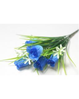 БАЛШЕМ Букет бутонов роз 5 голов с мелкоцветом синий (1шт) 141.2098