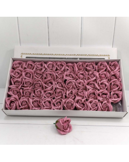 """Декоративный цветок-мыло """"Роза"""" класс А Лиловый 5,5*4 50шт."""