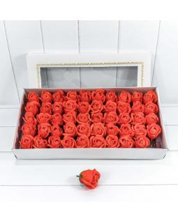 """Декоративный цветок-мыло """"Роза"""" класс А Оранжевый 5,5*4 50шт."""