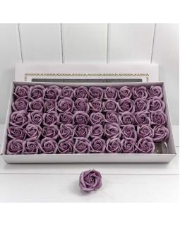 """Декоративный цветок-мыло """"Роза"""" класс А Пыльно-сиреневый 5,5*4 50шт."""