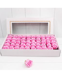 """Декоративный цветок-мыло """"Роза"""" класс А Розовый 5,5*4 50шт"""