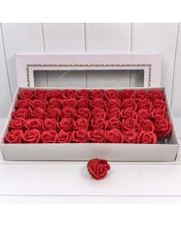 """Декоративный цветок-мыло """"Роза"""" класс А Красный 5,5*4 50шт."""