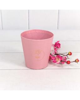 "Коробка ""Ваза для цветов"" 10,7*10,6 с тиснением ""Мини"" Розовый 1 шт."