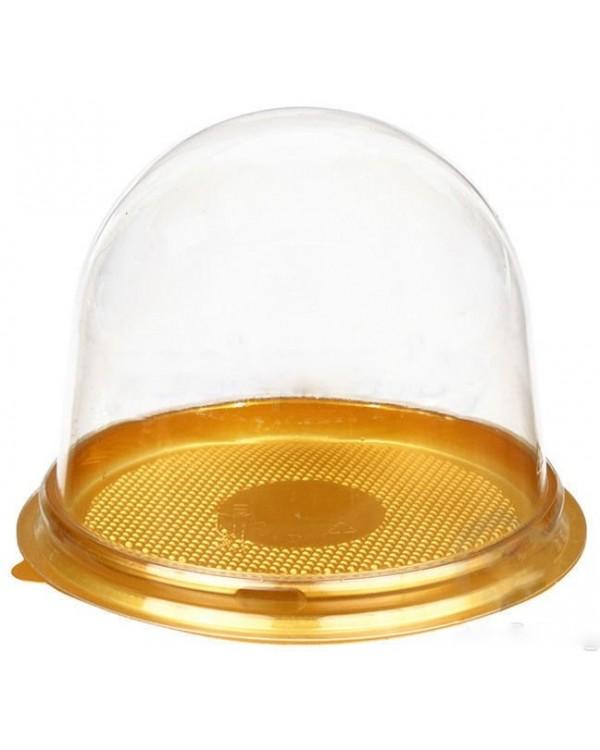 Купол ПЭТ с золотым дном, 11х8см. (1шт).
