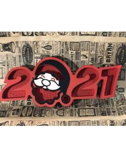 Пенобокс - «2021» [Цвет: Красный, Высота стенки: 5 см] 53x22
