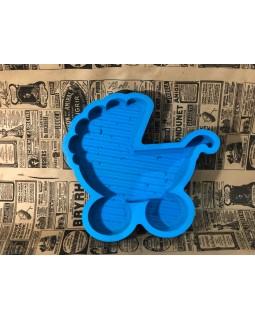 Пенобокс - «Коляска» [Цвет: Синий, Высота стенки: 5 см] 30x28
