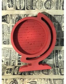 Пенобокс - «Глобус» [Цвет: Красный, Высота стенки: 5 см] 24x30