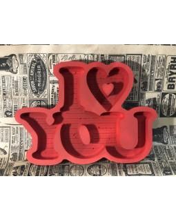 Пенобокс - «I Love You» [Цвет: Красный, Высота стенки: 5 см] 37x27