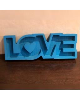 Пенобокс - «Love» [Цвет: Синий, Высота стенки: 5 см] 47x17