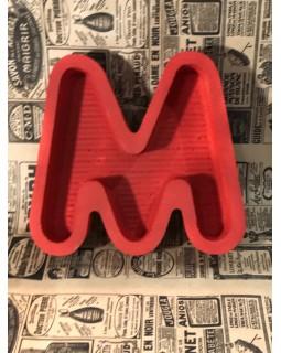 Пенобокс - «Буква М 23» [Цвет: Красный, Высота стенки: 5 см] 25x23