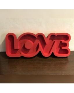 Пенобокс - «Love» [Цвет: Красный, Высота стенки: 5 см] 50x18