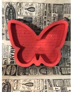 Пенобокс - «Бабочка» [Цвет: Красный, Высота стенки: 5 см] 27x21