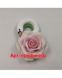 8-ка лебедь Роза, силиконовая форма (1 шт)