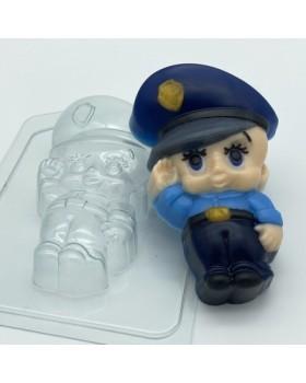 Малыш Полицейский, форма для мыла пластиковая (1 шт)