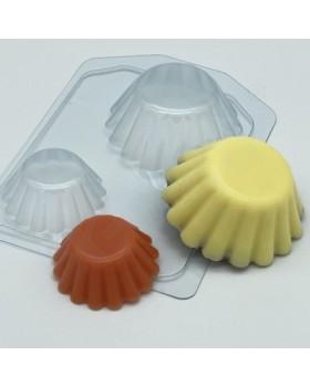 Тарталетки волнистые, форма для мыла пластиковая (1 шт)