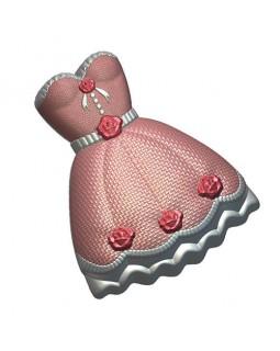 Платье 2 форма пластиковая (1 шт) БП 724