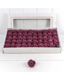 """Декоративный цветок-мыло """"Роза"""" класс А Пурпурно-фиолетовый 5,5*4 50шт."""
