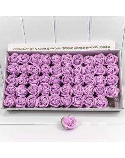 "Декоративный цветок-мыло ""Роза"" класс А Светлая слива 5,5*4 50шт."