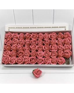 """Декоративный цветок-мыло """"Роза"""" класс А Серовато-красный 5,5*4 50шт."""