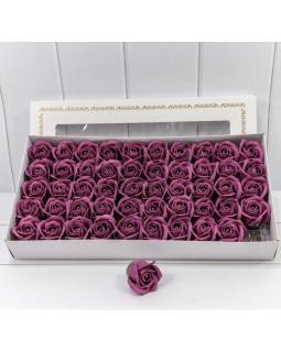 """Декоративный цветок-мыло """"Роза"""" класс А Глубокий пурпурный 5,5*4 50шт."""