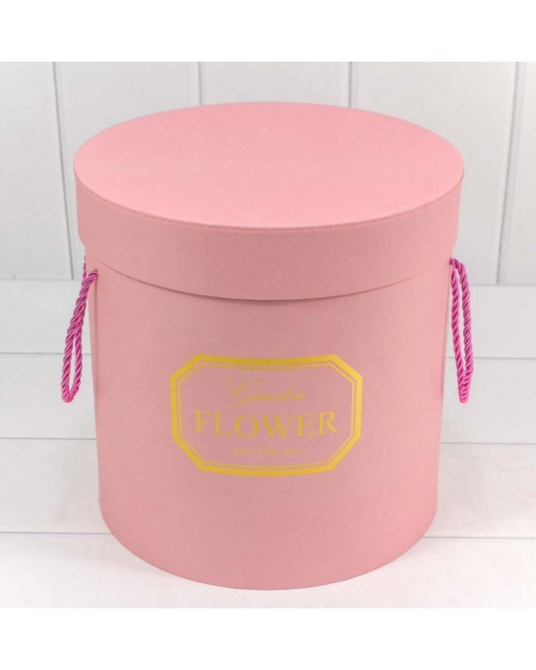 "Коробка Цилиндр 24,5*25 ""Garden Flower"" Розовый 720606/5"