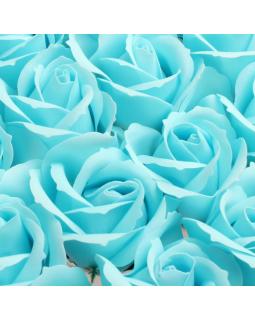 Роза из мыльной пены 3 слоя диаметр 5 см 50 шт голубая А2-3/39