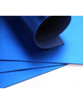 Фоамиран металлик А4 1 шт. синий 6205 К82-15/6205