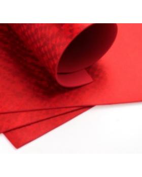 Фоамиран голограмма А4 1 шт. красный 6301 К82-16/6301