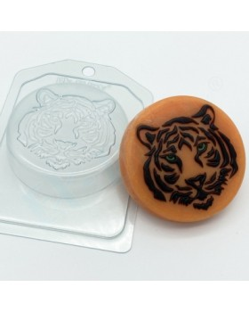 Тигр Силуэты морды, форма для мыла пластиковая