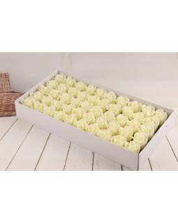 Роза из мыльной пены 3 слоя диаметр 5 см 50 шт айвори А2-3/HD2-31
