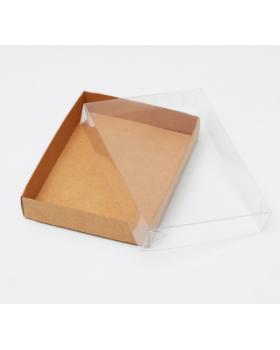 Упаковка для конфет с прозрачной крышкой 14 х 10,5 х 2,5 см 1863783