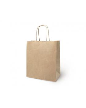 Пакет крафт без печати, круглая ручка 24 х 14 х 28 см 249293