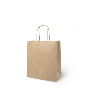 Пакет крафт без печати, круглая ручка 26 х 15 х 35 см 2492932